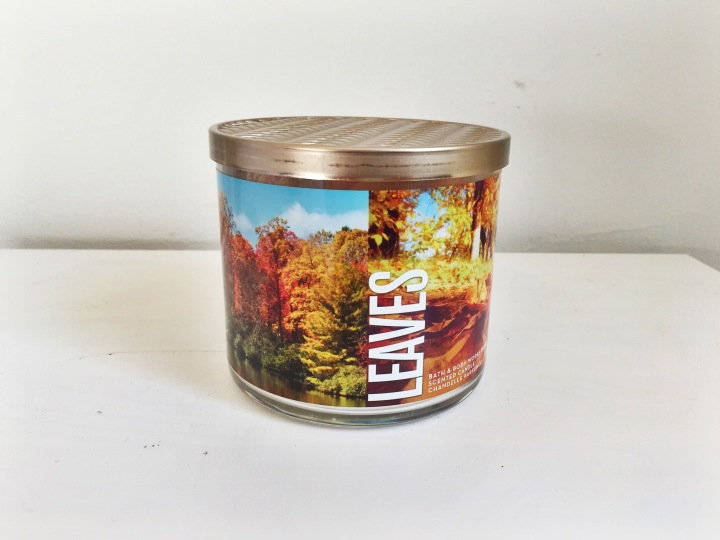 Bath and Body Works Fall Candle Picks Leaves